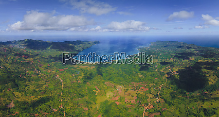 general aerial view of dominican republic
