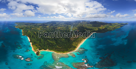 panoramic aerial view of dominican republic