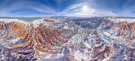 aerial view of the bryce canyon