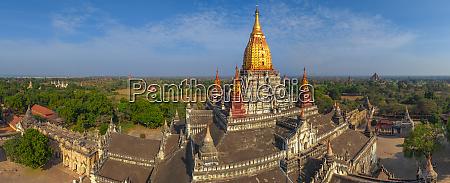 aerial view of ananda temple bagan