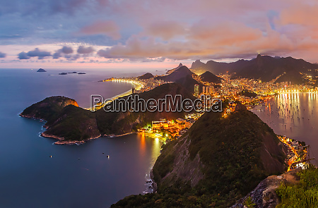 panoramic aerial view of rio de