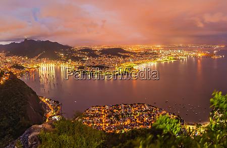 panoramic aerial view of rio de