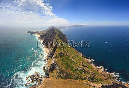 aerial view of cape of good
