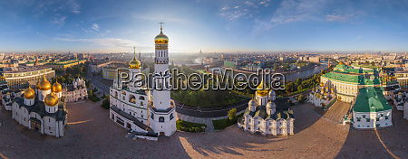 aerial view of the moscow kremlin