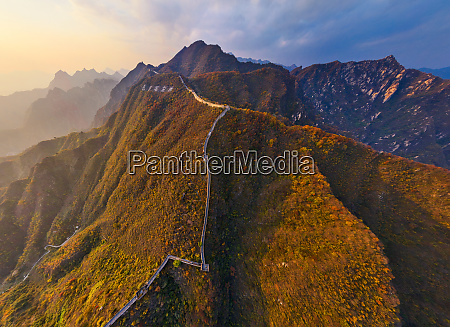 aerial view of the great wall