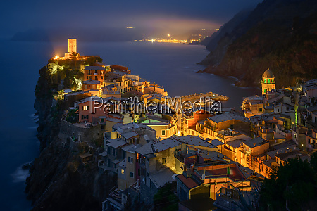 aerial view of vernazza cityscape during
