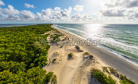 aerial view of beach at curonian