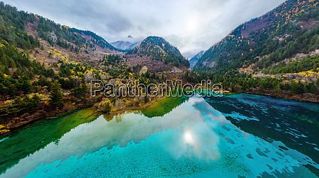 aerial view of blue water at