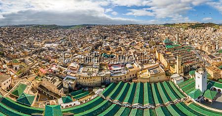panoramic aerial view of fes neighborhood