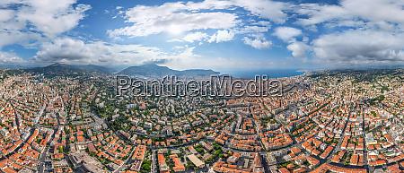 panoramic aerial view of nice city