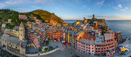 aerial view of vernazza italy