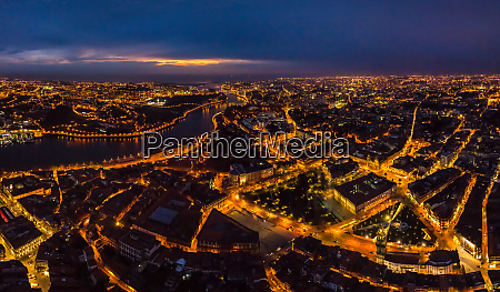 aerial view of porto cityscape during