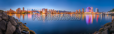 panoramic aerial view of vancouver cityscape
