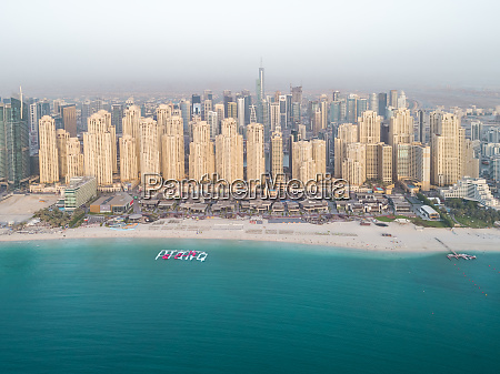 aerial view of skyscrapers surrounding the