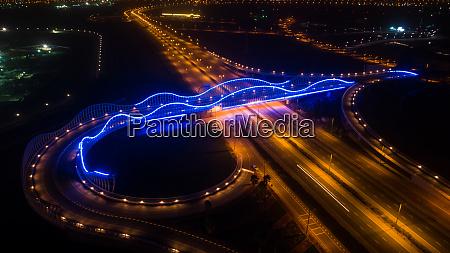 aerial view of the illuminated meydan