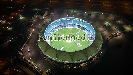 aerial view of the international cricket