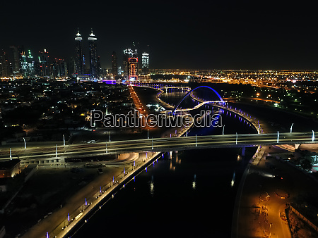 aerial view of al jadaf canal