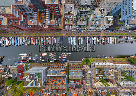 aerial, view, above, of, boats, anchored - 27448636