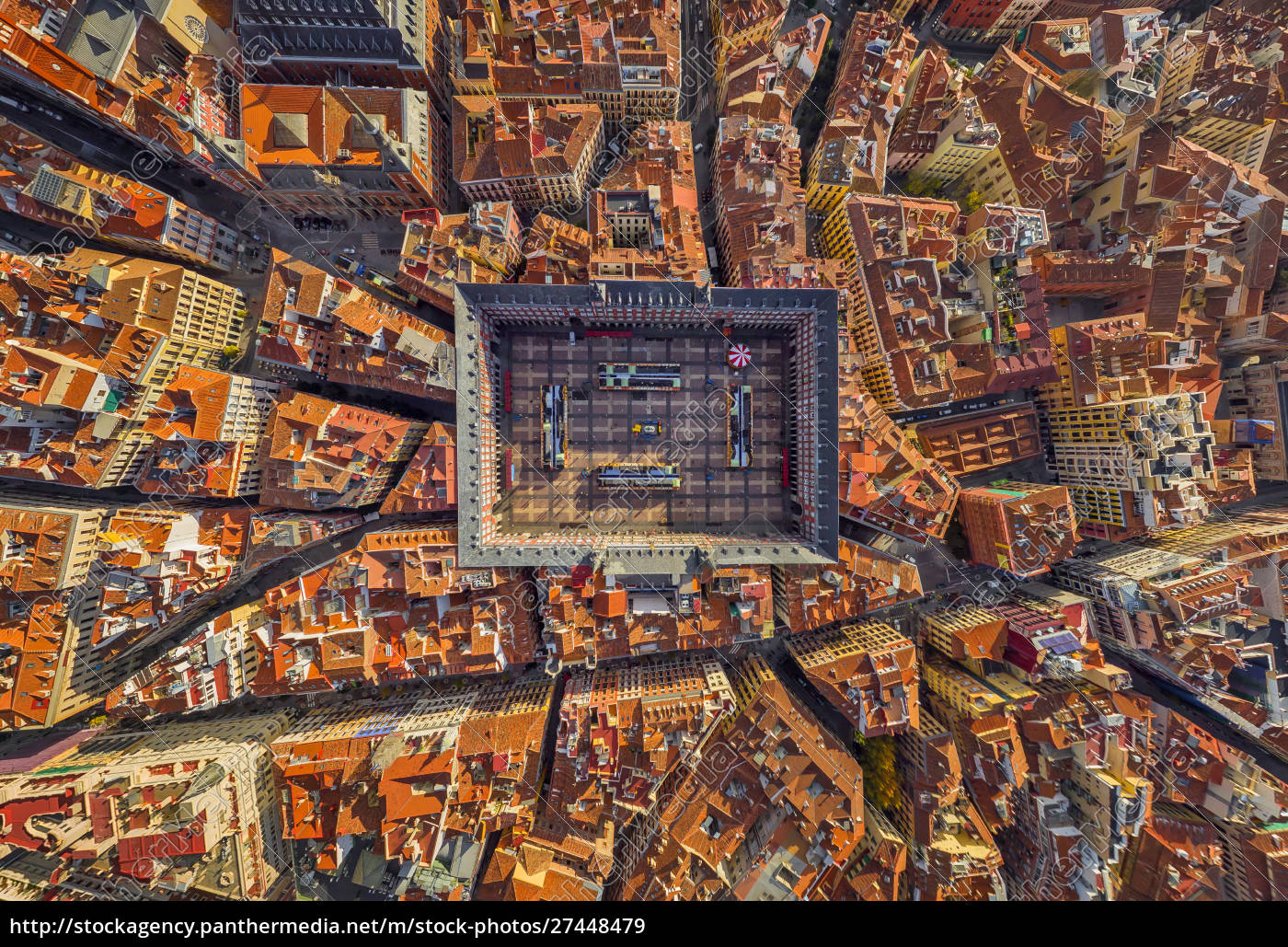 aerial, view, above, of, plaza, mayor, - 27448479