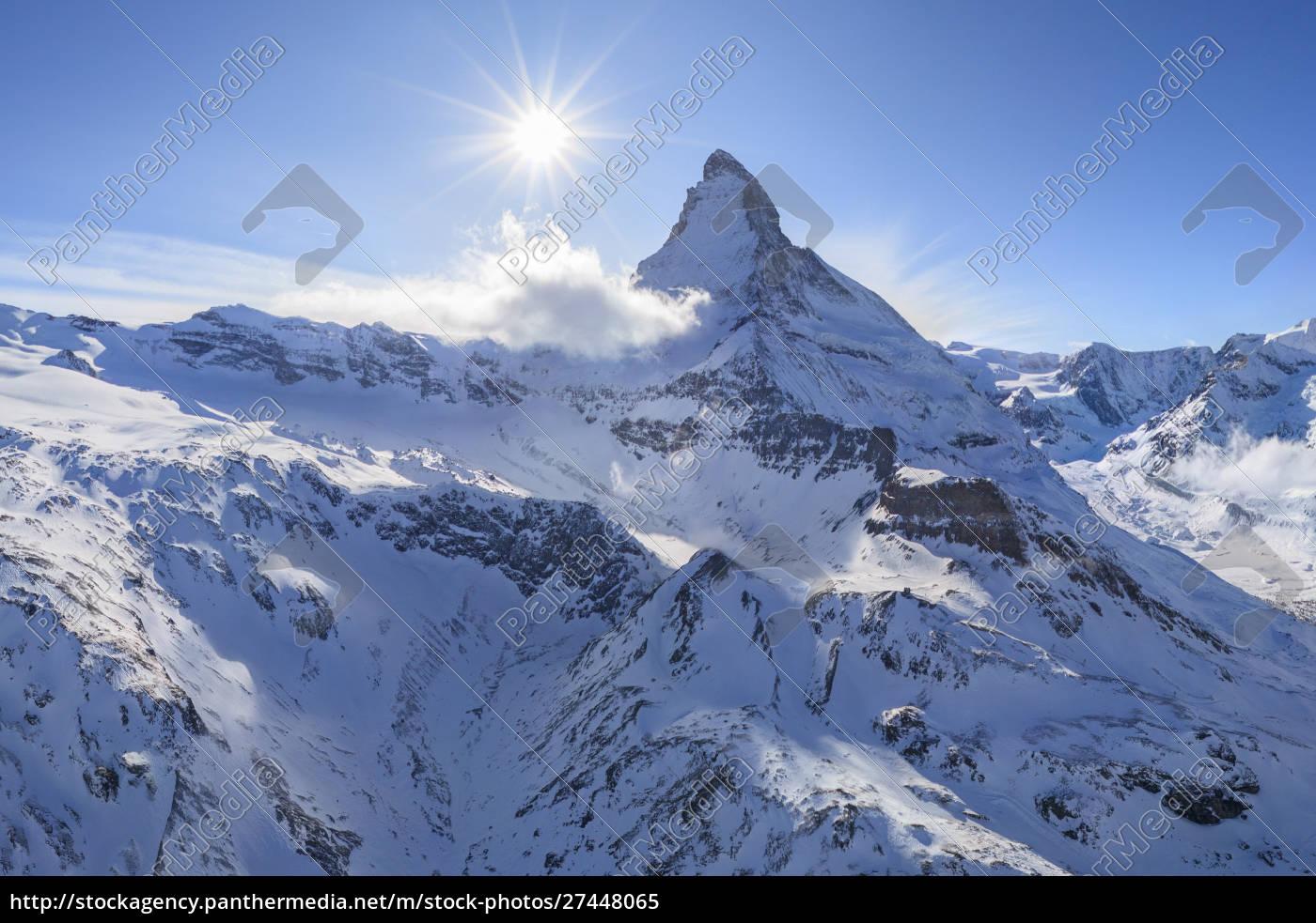 panoramic, aerial, view, of, matterhorn, , switzerland - 27448065