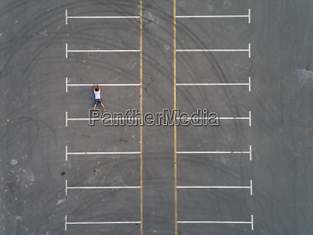 aerial conceptual view of a man
