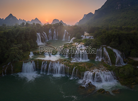 aerial view of the detian falls