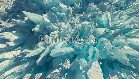 abstract aerial view of baikal lake