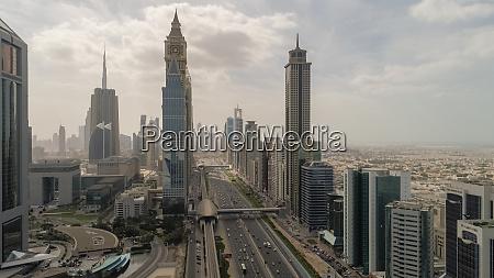 aerial view of skyscrapers in dubai