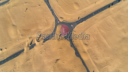 aerial view of highway covered with