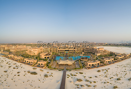 aerial view of luxury resort and