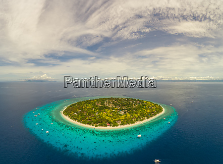 aerial view of balicasag island philippines