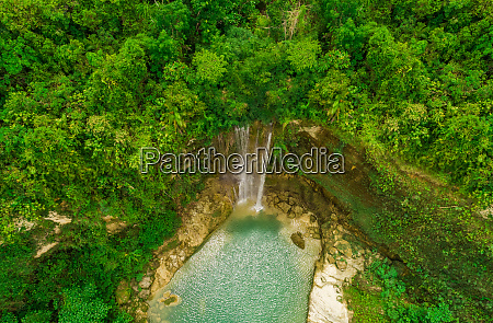 aerial view of camugao waterfall in