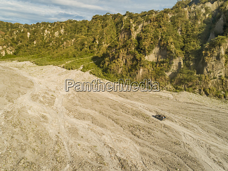 aerial view of road in valley
