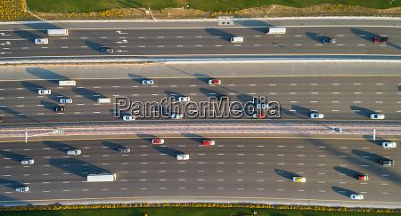 aerial view of highway in dubai