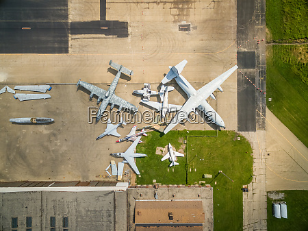 aerial view above of rantoul national