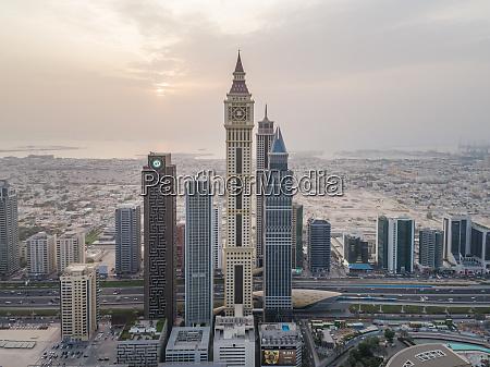 aerial view of al yaqoub tower