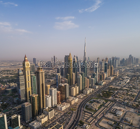 aerial view of the burj khalifa