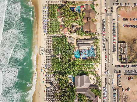 aerial view of fortaleza beach