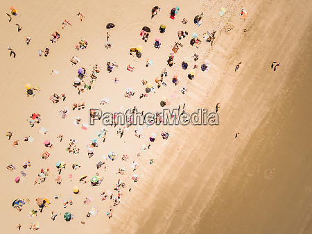 aerial view of people on the