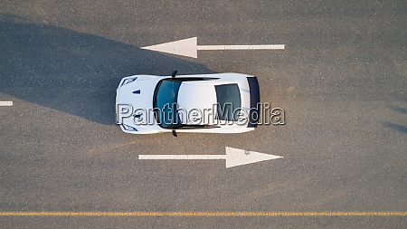 aerial, view, of, a, car, on - 27450474