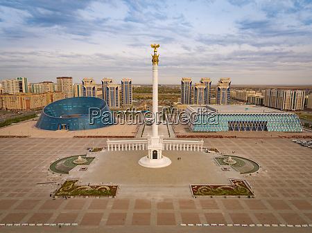 aerial view of monument kazakh eli