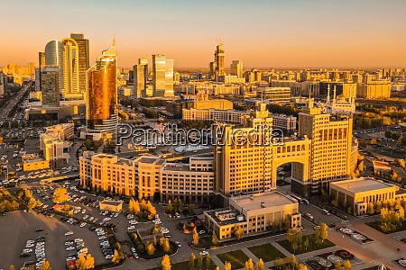 aerial view of nur sultan entertainment