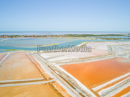 aerial view of big salt industry