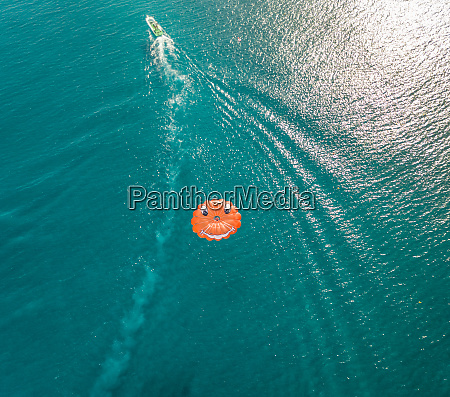 aerial view of parachute with smiley