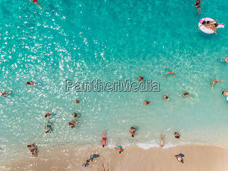 aerial view of people enjoying the