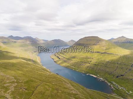 aerial view of mountain region near