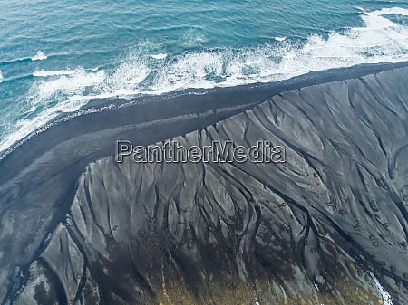 aerial view of diamond beach coastline
