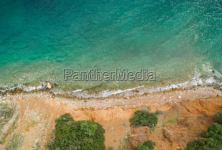 aerial view of the beach at