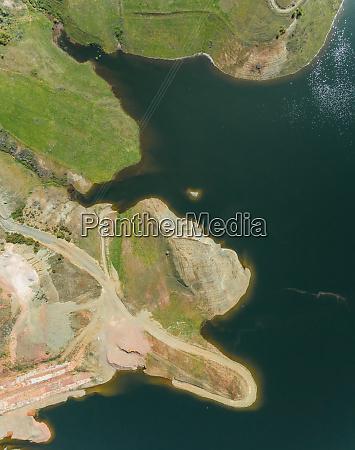 aerial view of lake plastira greece