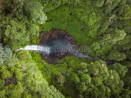 aerial view of waterfall in salto